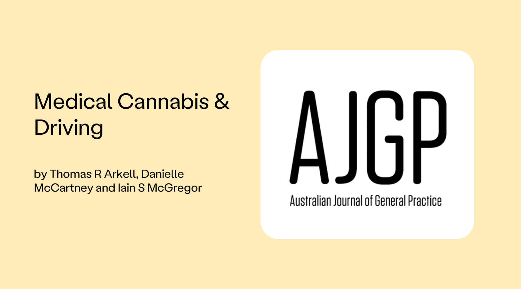 cannabis and driving ajgp tom arkell cover